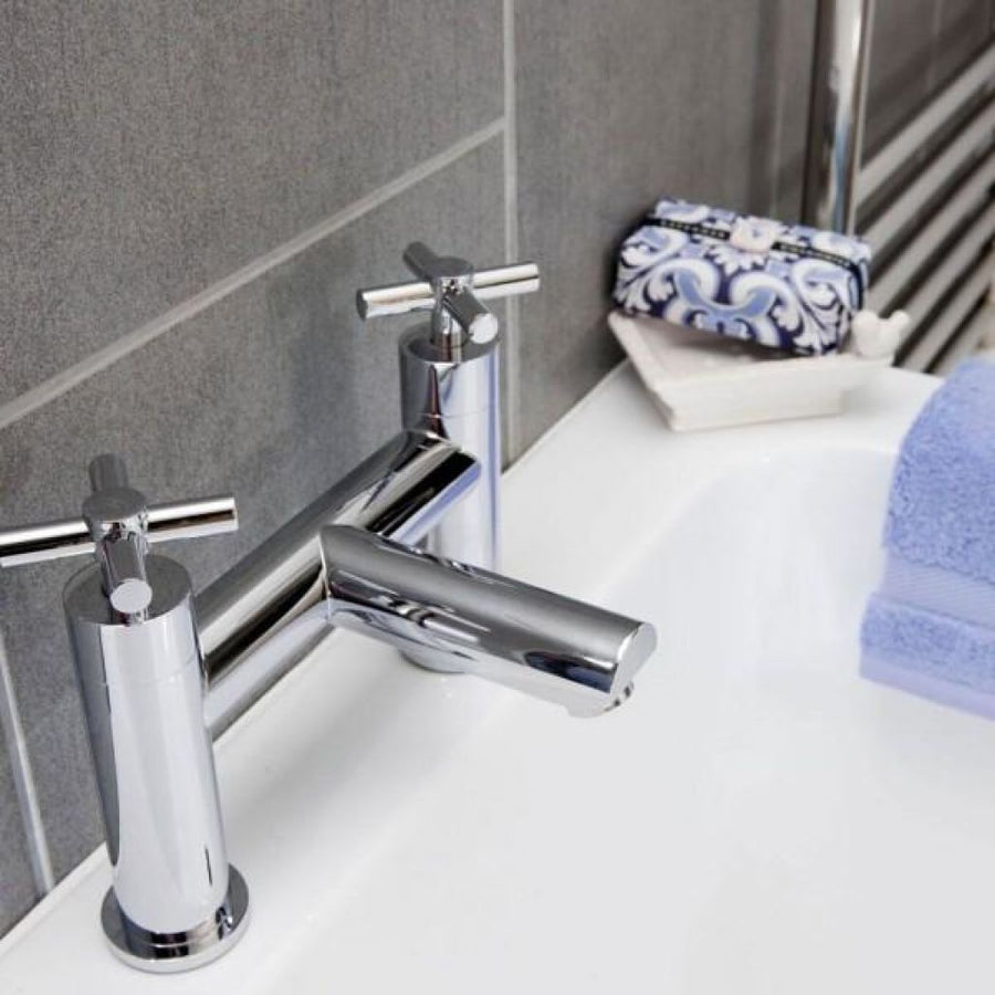 Cassellie Dune Bath Filler Tap - Chrome - EverythingBathroom.co.uk