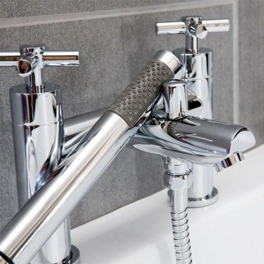 Cassellie Dune Bath Shower Mixer Tap - Chrome - EverythingBathroom.co.uk