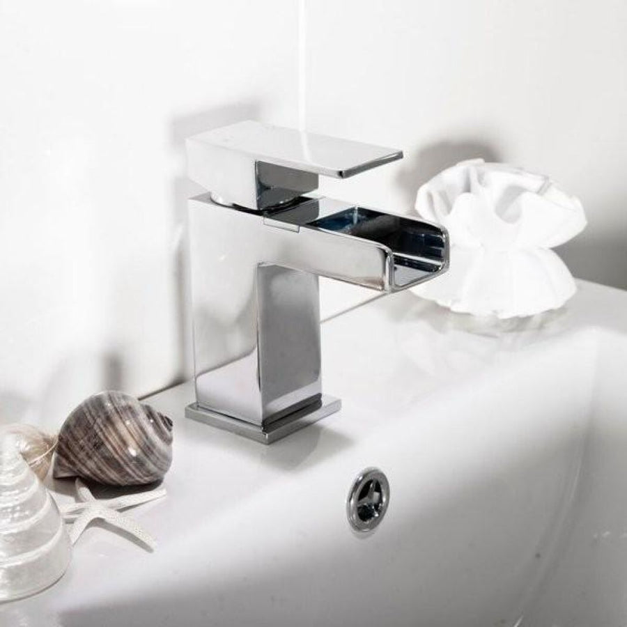 Cassellie Dunk Mono Basin Mixer Tap with Click Clack Waste - Chrome