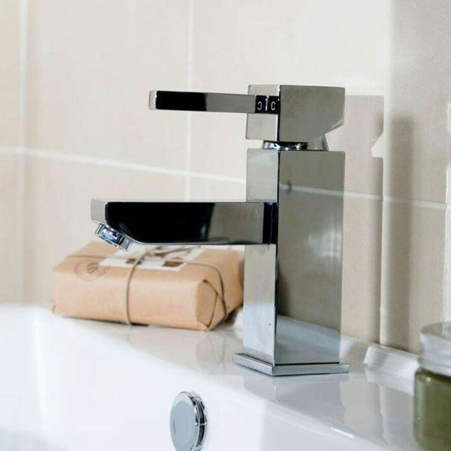 Cassellie Emperor Mono Basin Mixer Tap with Click Clack Waste - Chrome - EverythingBathroom.co.uk