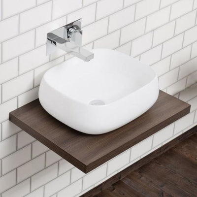 Cassellie Floating Shelf with Concealed Wall Brackets - Walnut - EverythingBathroom.co.uk