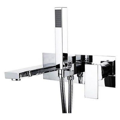 Cassellie Form Bath Shower Mixer Tap - Single Lever - Chrome - EverythingBathroom.co.uk