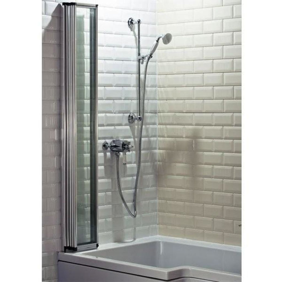 Cassellie Four Fold Shower Bath Screen - 4mm Glass