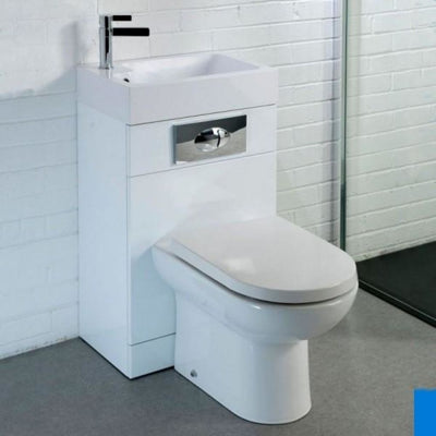 Cassellie Futura Combination Unit - 500mm Wide - Gloss White - EverythingBathroom.co.uk