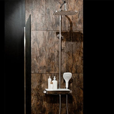 Cassellie Garda Tobler Thermostatic Complete Mixer Shower - Chrome - EverythingBathroom.co.uk