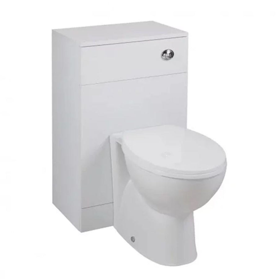 Cassellie Kass WC Unit - Churwell Back to Wall Pan and Cistern - 820mm Deep