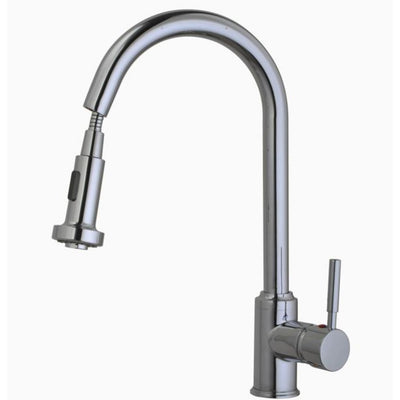 Cassellie Kitchen Mixer Tap With Pull Out Rinse Spray - EverythingBathroom.co.uk