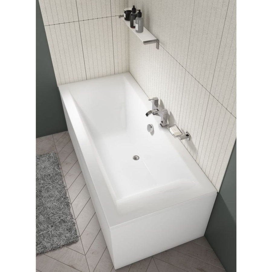 Cassellie Lime Double Ended Bath - 1700mm x 750mm - White