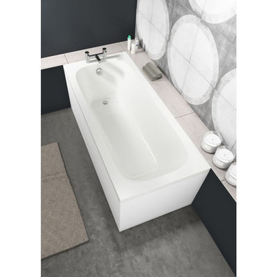 Cassellie Luton Bath - Single End, Straight  - Round Style - EverythingBathroom.co.uk