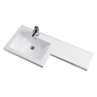 Cassellie Maze Gloss White L-Shaped Combination Furniture Pack - EverythingBathroom.co.uk