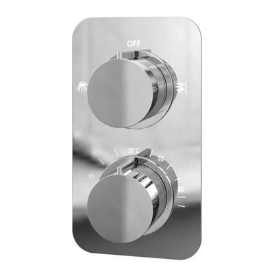 Cassellie Moderno Dual Concealed Thermostatic Shower Valve - Dual Function - Chrome - EverythingBathroom.co.uk