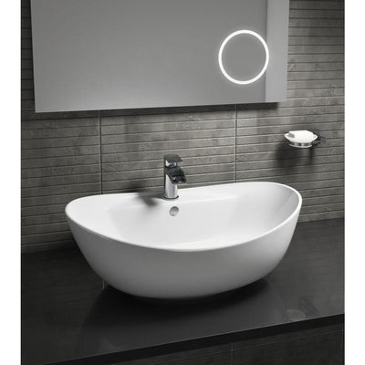 Cassellie - Oval Counter Top Vessel Ceramic 1 Tap Hole Basin - EverythingBathroom.co.uk