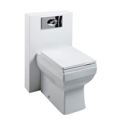 Cassellie Polymarble Shroud Unit with Dice Back to Wall Pan and Cistern - EverythingBathroom.co.uk