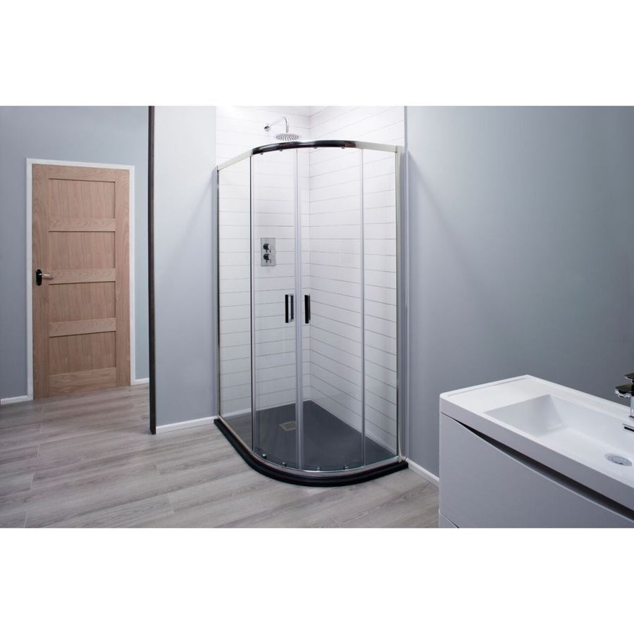 Cassellie Seis Offset Quadrant Shower Enclosure - Chrome