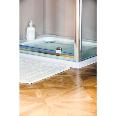 Cassellie Seis Pivot Shower Door - Chrome - EverythingBathroom.co.uk