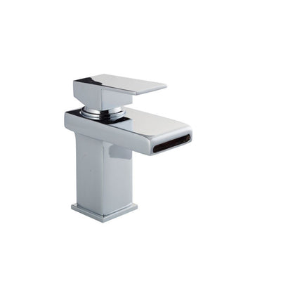 Cassellie Spendo Mono Basin Mixer Tap with Click-Clack Waste - Chrome - EverythingBathroom.co.uk