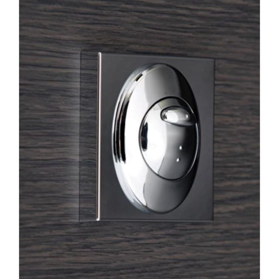 Cassellie Square Push Button Flush Plate - Chrome