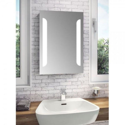 Cassellie Touch Sensitive LED Bathroom Mirror with De-mister Pad - EverythingBathroom.co.uk