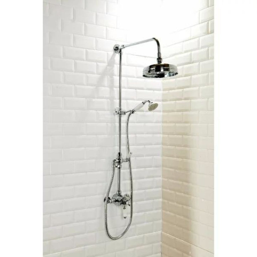 Cassellie Traditional Dual Exposed Thermostatic Shower Valve - Chrome