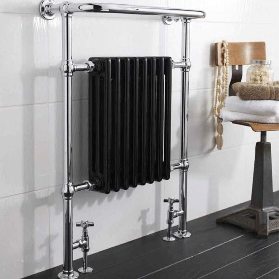 Cassellie - Traditional Radiator in Black - 963mm x 673mm x 230mm