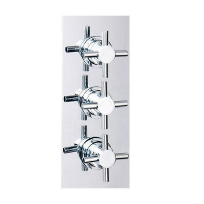 Cassellie Triple Crosshead Concealed Valve - EverythingBathroom.co.uk