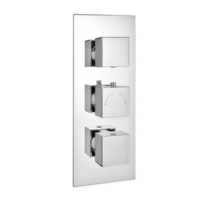 Cassellie Triple Square Concealed Valve - EverythingBathroom.co.uk