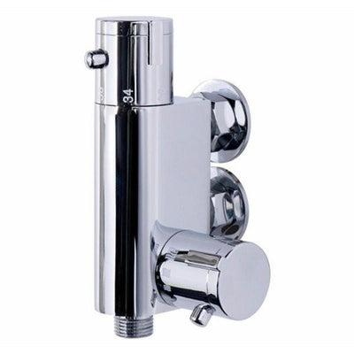 Cassellie Vertical Thermostatic Bar Valve - EverythingBathroom.co.uk
