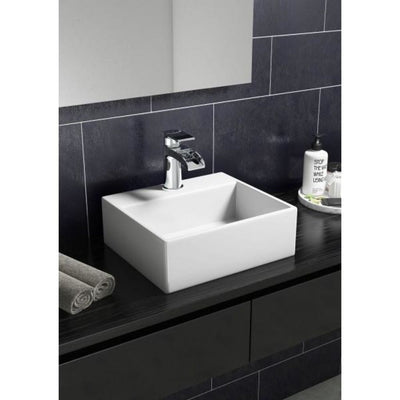 Cassellie Vessel Cloakroom Basin - 330mm Wide - 1 Tap Hole - EverythingBathroom.co.uk