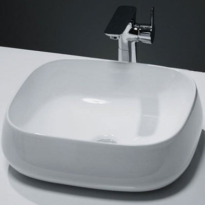 Cassellie Vessel Counter Top Basin - 450mm Wide - White - EverythingBathroom.co.uk