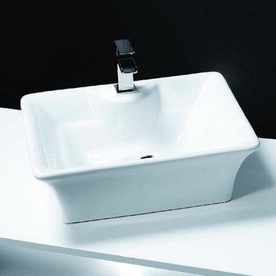 Cassellie Vessel Counter Top Basin - 490mm Wide - 1 Tap Hole - EverythingBathroom.co.uk