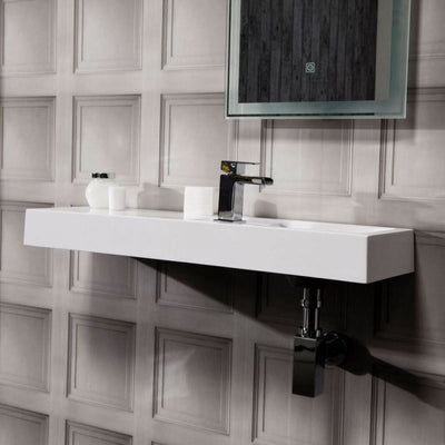 Cassellie Wall Hung Polymarble Basin - EverythingBathroom.co.uk