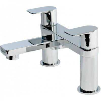 Cassellie Wind Bath Filler Tap - Chrome - EverythingBathroom.co.uk