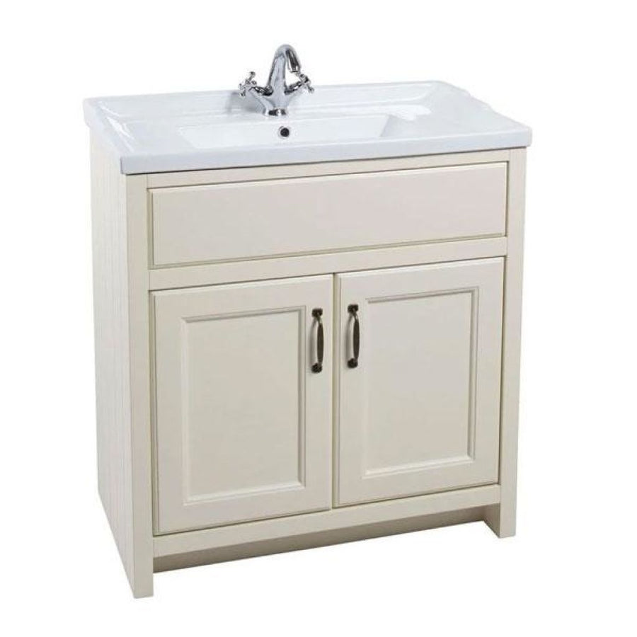 Chartwell - 800mm Traditional 2-Door Basin Cabinet with 1 Tap Hole Ceramic Basin