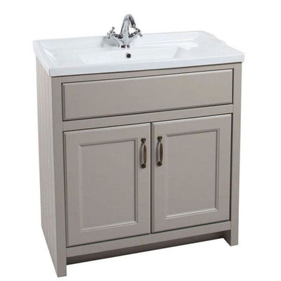 Chartwell - 800mm Traditional 2-Door Basin Cabinet with 1 Tap Hole Ceramic Basin - EverythingBathroom.co.uk