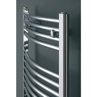 CHROMO CURVED LADDER TOWEL RADIATOR VERTICAL (CHROME) - EverythingBathroom.co.uk