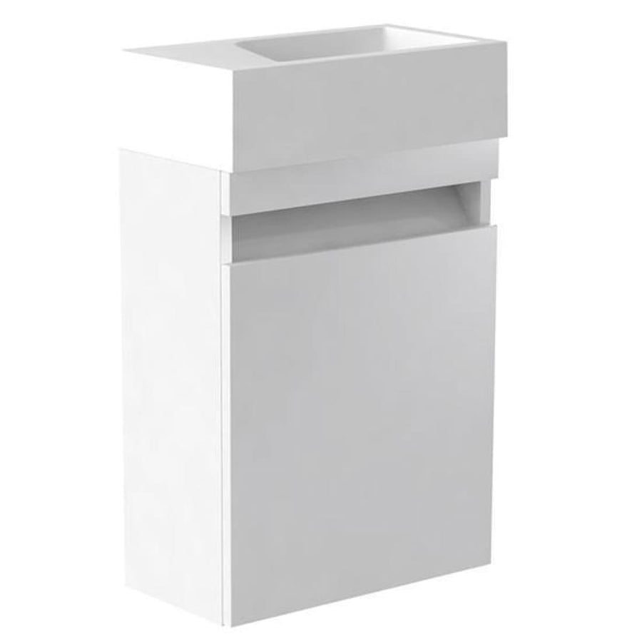 Ikon 400mm Wall Mounted Cloakroom Unit & Basin
