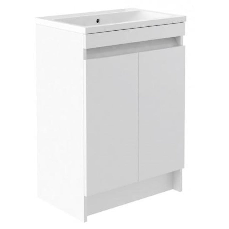 Ikon Two Door Floor Standing Unit & Ceramic Basin - 600mm