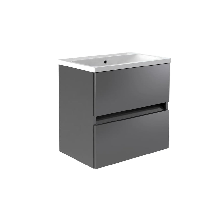 Ikon Wall Mounted Drawer Unit & Ceramic Basin