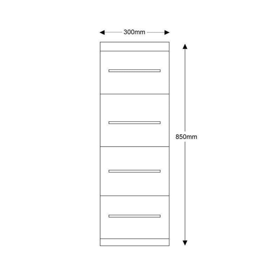 Impakt 4 Drawer  Floor Standing Bathroom Unit