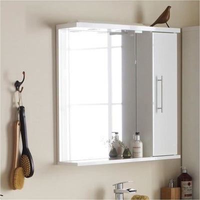 Impakt Bathroom Mirror with Side Cabinet & Lights - Left Hand - EverythingBathroom.co.uk