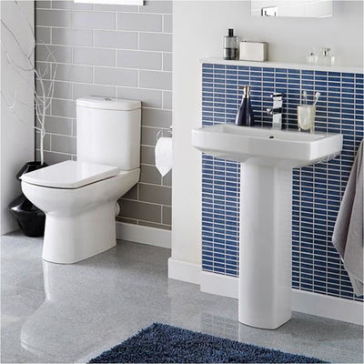 Kartell Aspect 460mm 1th Basin & Pedestal - EverythingBathroom.co.uk