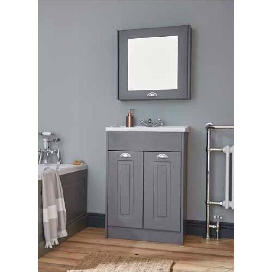 Kartell Astley Floor Standing 2 Door Unit & Ceramic Basin