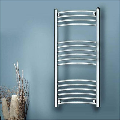Kartell Curved Electric Towel Rail – On/Off - EverythingBathroom.co.uk