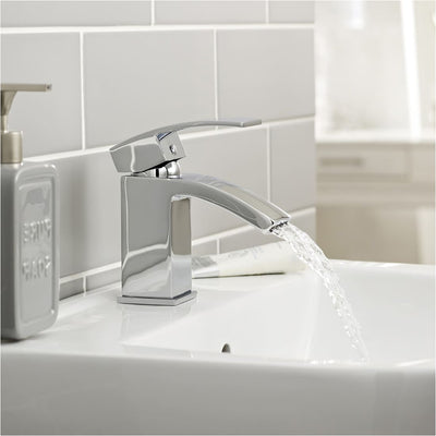 Kartell Flair Mono Basin Mixer With Click Waste - EverythingBathroom.co.uk