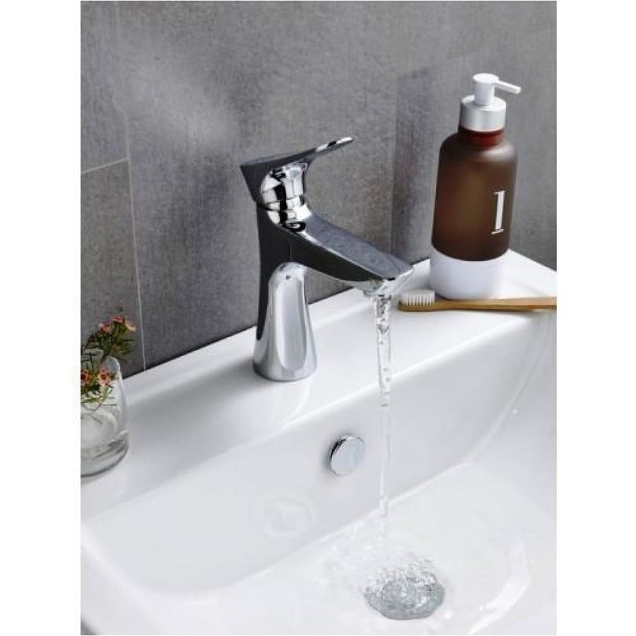 Kartell Focus Mono Basin Mixer With Click Waste - EverythingBathroom.co.uk