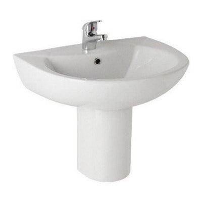 Kartell G4k 545mm Basin & Semi Pedestal - EverythingBathroom.co.uk
