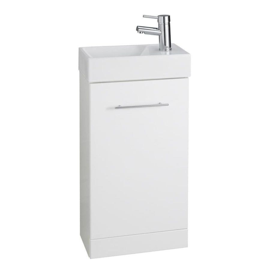 Kartell Impakt White Cube Cloakroom Unit with Basin