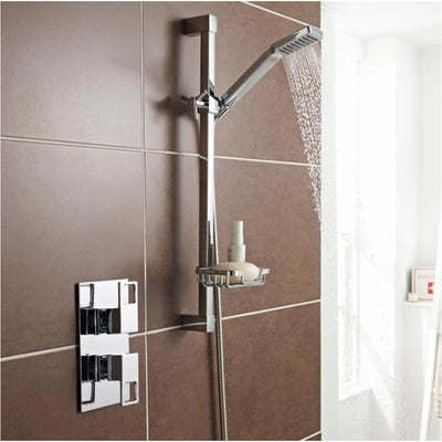 Kartell Kourt 1 Thermostatic Concealed Shower With Slide Rail Kit Everythingbathroom.co.uk