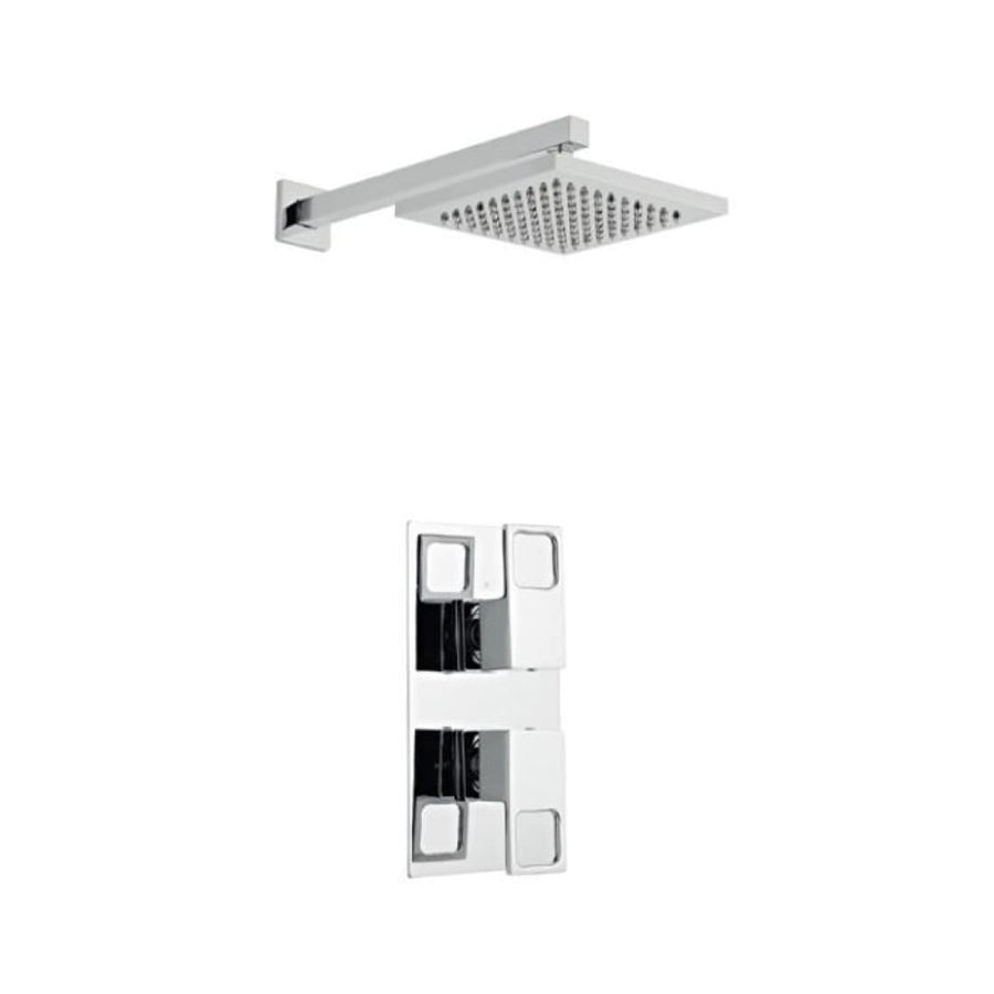 Kartell Kourt 2 Thermostatic Concealed Shower with Fixed Overhead Drencher
