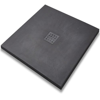 Kartell KT35 Slate Effect Shower Trays Square - EverythingBathroom.co.uk